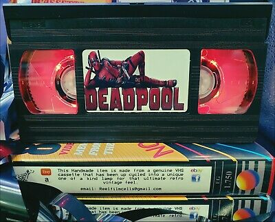 Retro VHS Lamp, Deadpool,Night Light Stunning Collectable, Top Quality!Amazing