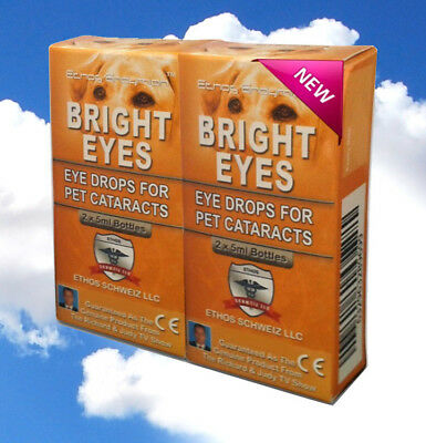 Cataract Ethos Bright Eyes Vision Eye Drops for Dogs & Pets Two Boxes 20ml