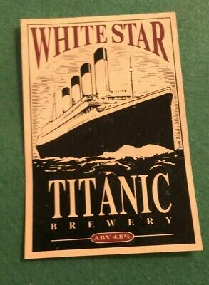 Beer Ale Pump Clip - Titanic   Brewery White Star    - Man Cave  (Ii30)