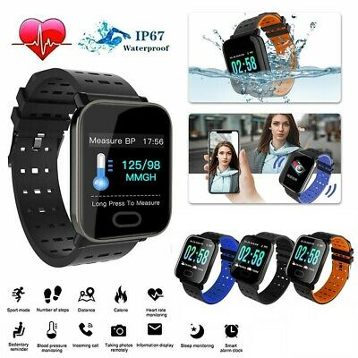 Waterproof Sport Smart Watch Blood Pressure Heart Rate Monitor iPhone Android SE