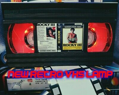 Retro VHS Lamp,Rocky 3 Boxing .Night Light Stunning Collectable, Top Quality!