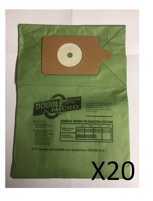 20 Pack - Fits Numatic Henry Hoover Vacuum Cleaner Double Layer Paper Dust Bags