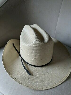 Sheplers by Stetson Natural Color Men s Western Cowboy Straw Hat - Size 6  7 8 47032e72bd5c
