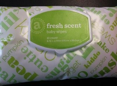 Amazon Elements Fresh Scent Baby Wipes 6- 80 count pks, 480 wipes total