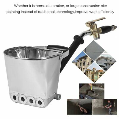 Wall Mortar Sprayer Gun Stucco Shovel Ladle Cement Plaster Hopper With Hand SK