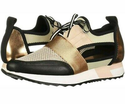 09666a9cd8b Steve Madden Arctic Rose Gold Cutout Athletic Sneakers Womens Size 6.5M