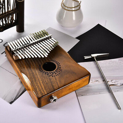 BU_ Portable 17 Key EQ Electric Pickup African Kalimba Mbira Thumb Piano high