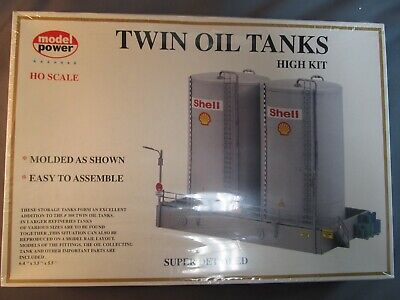 Model Power #311 Shell Twin Oil Tanks.  Sealed.  1/87th scale.