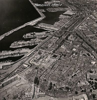 OLD VINTAGE 1954 USAF US AIR FORCE RECON SORTIE PHOTO of MARSEILLE FRANCE