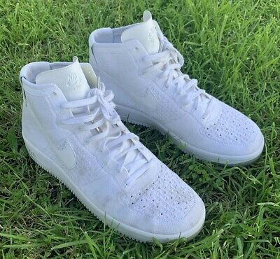 huge selection of 71c36 281ec 🔥Nike Air Force 1 Ultra Flyknit Mid Mens (817420-100)Triple White