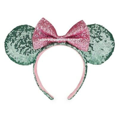 Disney Parks Minnie Mouse Ear Headband - Mint and Pink Sequins (NEW)