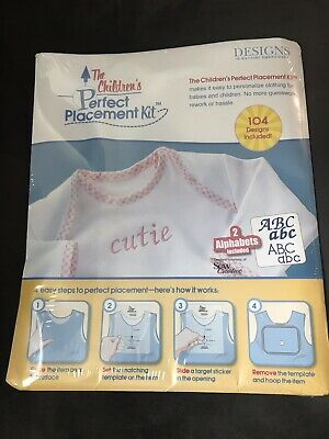 The Children's Perfect Placement Kit Designs In Machine Embroidery NEW SEALED