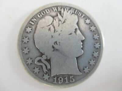 1915-D Barber Half-Dollar 900 Silver Denver Mint Good Condition