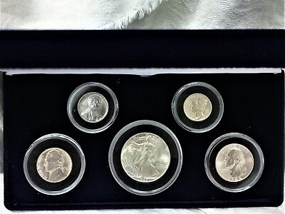 Us American Coinage Of World War 2 ... 5 Coin Set ... Genuine ... Unc