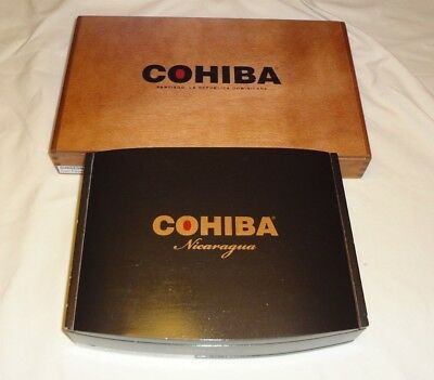 1a9516a7330f COHIBA WOODEN Cigar Boxes Empty Lot of 2 Lot  116 -  16.99