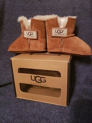 21a39f57930 UGG AUSTRALIA BABY Booties Shoes Cassie Leopard Brown Size 2/3 6-12 ...