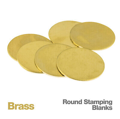 Round Brass Metal Jewellery Stamping Blank Discs, 6 pc, 10-38mm