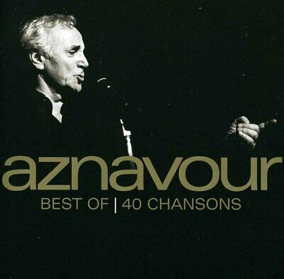 Charles Aznavour - Best Of 40 Chansons - Cd - New