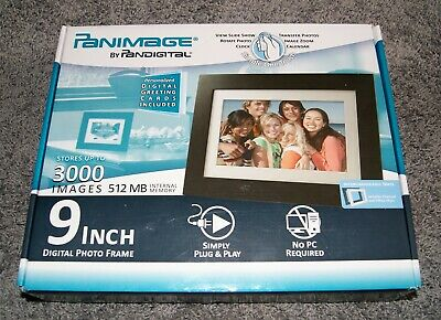 Panimage by Pandigital 9 Inch Digital Photo Frame - Store 3000 Images - 512 MB