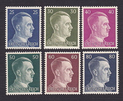 Germany 1941 Scott 518-523 --- Hitler Heads Nazi Third Reich Set of 6 - MNH