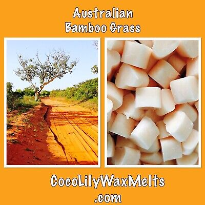 50 X Luxury Mini Heart Wax Melts/ AUSTRALIAN BAMBOO GRASS/ Clean Scent/ Soy Wax