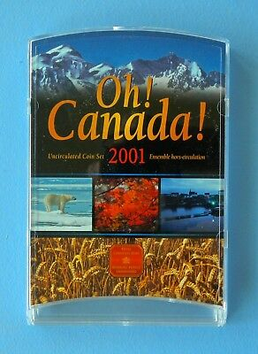 2001 OH! CANADA Uncirculated 7-Coin Proof-Like Mint Set (4057)