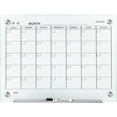 New Quartet Infinity Magnetic Glass Calendar Dry Erase White Board