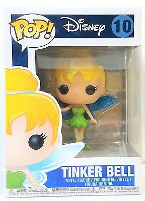 Funko Pop Tinker Bell Diamond Glitter # 10 Peter Pan Vinyl Figure Brand New