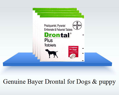 Bayer drontal for Dogs & Puppies (4,8 Tablets) Roundworm and Tapeworm Dewormer