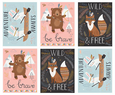 WILD & FREE by Abi Hall for Moda - Panel