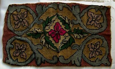 "Antique - Early 20th century Canadian hook rug - 38"" x 22"""