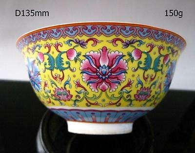 Chinese famille rose porcelain bowl of hand-painted flowers qianlong mark