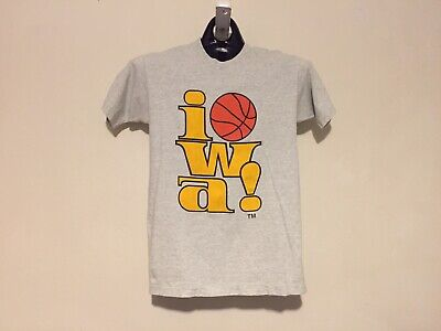258476cdb1e RARE VINTAGE Iowa Hawkeyes Basketball Classic Logo T-Shirt Men s Size  Medium M