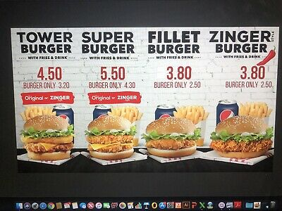 Chicken Shop/Pizza/Cafe/Restaurant Digital Menu, Sign And Interior Design