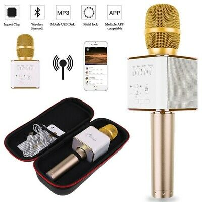 AU Q9 Mini Wireless Bluetooth Karaoke Microphone Speaker Handheld Mic USB Player
