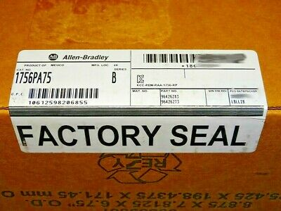 FACTORY SEALED Allen Bradley 1756-PA75 /A Power Supply YEAR DATES VARY