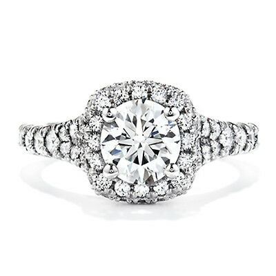 1.20 Ct Round Bridal Diamond Engagement Ring 14K Solid White Gold Size 7  0120