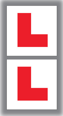 2 x Fully Magnetic Exterior Car New Learner Driver L Plates - Secure & Safe