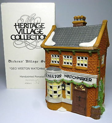 "Dept 56 Dickens Village ""Geo. Weeton Watchmaker"" w/ Original Box Retired #59269"