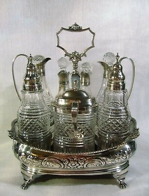 Antique English Sterling Cruet Set by Charles Chesterman, 1789