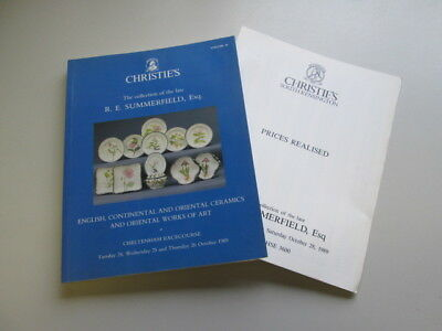 Good - Christies Catalogue: The Collection of the Late R E Summerfield, Esq, Vol