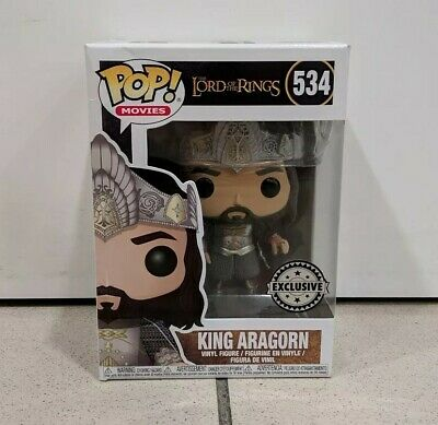 Funko Pop King Aragorn 534 The Lord Of The Rings EXCLUSIVE Vinyl Figure