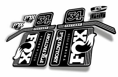 FOX 34 Float 2017 Forks Suspension Factory Decals Stickers Adhesive Green