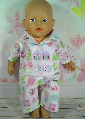 Dolls clothes for 32cm Little Baby Born/Baby Alive doll~OWL~HOUSE~FLORAL PYJAMAS