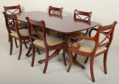 Antique Vintage Dining Table and 6 Chairs Fine Quality Mahogany