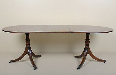 Antique Bevan Funnel Mahogany Dining Table Fine Quality Regency Twin Stalker