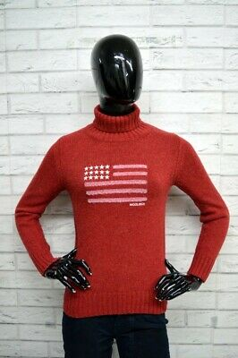 Maglione Donna WOOLRICH Taglia Size M Sweater Red Woman Pullover Dolcevita ab0cc6382cff
