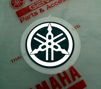 ORIGINAL Yamaha Folien Aufkleber- 2,5cm -Sticker-Emblem-Emblema-25mm-Decal-LOGO