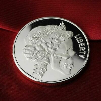 Queen Skull design. 1 Troy oz .999 Fine Silver Bullion Round (Coin)  NEW!!