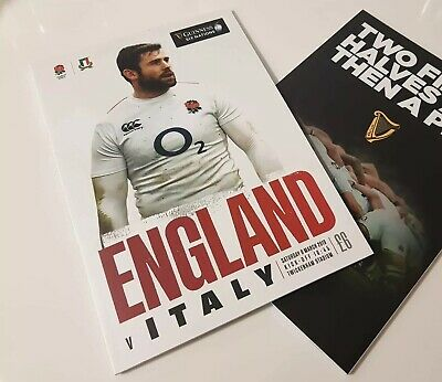 England V Italy Guiness Six Nations 2019 Programme.